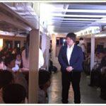 杉本美香が岐阜県関市からの修学旅行生と船上で交流。2020年への関心促す