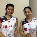 髙橋礼華・松友美佐紀ペアが中国オープンの女子ダブルスで日本人初優勝!